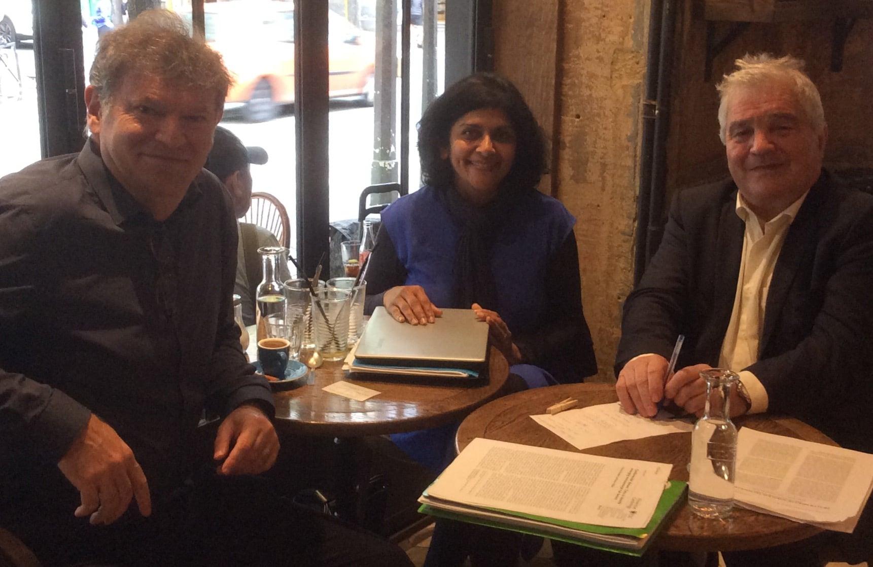 Working meeting in Paris with Professor Belpomme and Dr Pri Bandara, Smombie Gate   5G   EMF