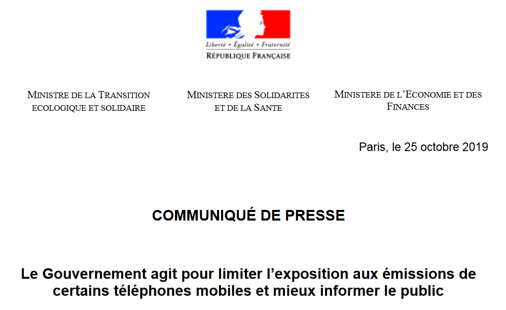 French ministerial announcements: an important step in our actions to protect the health of mobile phone users, Smombie Gate | 5G | EMF