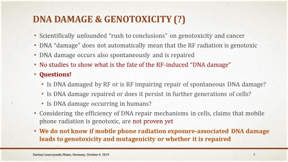"""Publication of the NTP study on DNA """"damage"""" – hold your horses… do not jump to premature conclusions…, Smombie Gate 