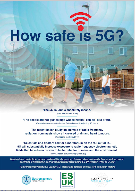 5G Awareness Poster Banned in the UK, Smombie Gate | 5G | EMF