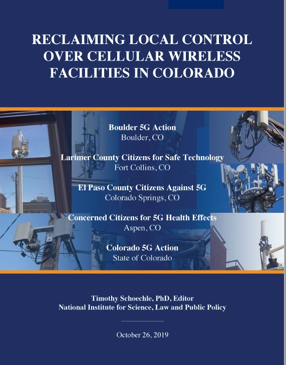REPORT: Reclaiming Local Control Over Cellular Wireless Facilities in CO, Smombie Gate | 5G | EMF