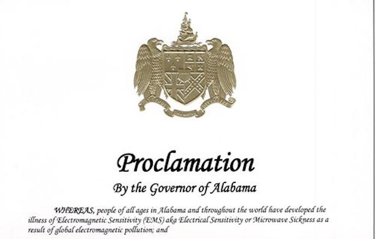 Alabama Proclamation on Electromagnetic Sensitivity 2020, Smombie Gate   5G   EMF